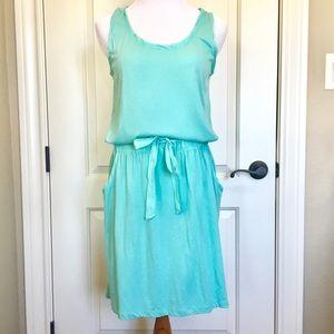 LOFT Agua/Light Blue Dress Cotton Size M